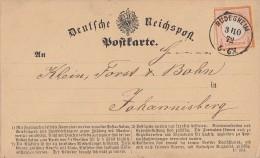 DR Karte EF Minr.14 K1 Rüdesheim 3.10.72 - Deutschland