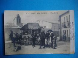 """PARIS  -  75  -  Carte Publicitaire AU BON MARCHE  -  WORMS """" Au Complet""""  - Salon Des Artistes En 1912 - Publicité"""