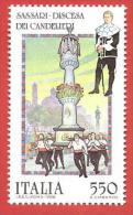 ITALIA REPUBBLICA MNH - 1988 - Folclore - Discesa Dei Candelieri, A Sassari - £ 550 - S. 1842 - 6. 1946-.. Repubblica