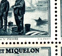 St Pierre Et Miquelon MNH Scott #182 Full Sheet Of 50 40c Port St. Pierre Variety: Splash In Water In Front Of Boat P1/2 - Blocs-feuillets
