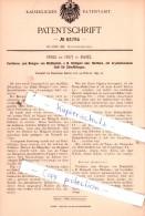 Original Patent  - Emile De Trey In Basel , 1895 , Verfahren Zum Belegen Von Blattmetall !!! - Documents Historiques