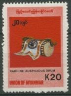 Birma (Myanmar) 1999 Freimarke: Einheimische Instrumente 341 Postfrisch - Myanmar (Burma 1948-...)