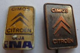 CIMOS CITROEN - Slovenia, Car Automobile 2 PIECES  PINS BADGES  P - Citroën