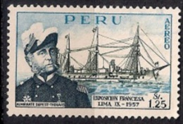 B254 - Perú 1957 - Ship Exhibition Of French Products, Lima Used - Peru