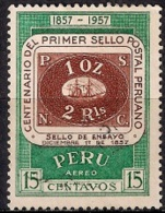 B256 - Perú 1957 - The 100th Anniversary Of First Peruvian Postage Stamp  Used - Peru
