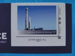 2015_11. Collector Musee Air Espace. Fusee Ariane Boeing 747. Adhésif Neuf [avion Aeronautique Plane] - Collectors