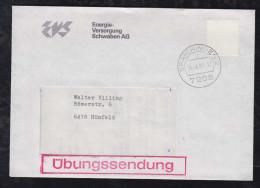 BRD Bund 1983 Brief Übungssendung Spaichingen Mit Blanko Marke - BRD
