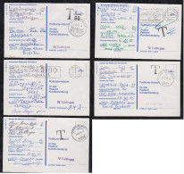 BRD Bund 1985 5 Karten Postsache Ballon Flug Wettbewerb Mit Nachgebühr - [7] Repubblica Federale