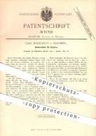 Original Patent - Carl Marschütz In Nürnberg , 1885 , Bremsschloss Für Bicycles , Schloss , Fahrrad , Fahrräder , Rad !! - Historische Dokumente