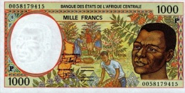 East African States - Afrique Centrale Tchad 2000 Billet 1000 Francs Pick 602 G Neuf 1er Choix UNC - Chad