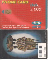UGANDA(chip) - Painting, MTN Publicom Telecard Ush 5000, Exp.date 15/04/03, Used