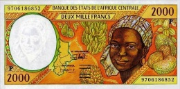 East African States - Afrique Centrale Tchad 1997 Billet 2000 Francs Pick 603 D Neuf 1er Choix UNC - Tsjaad