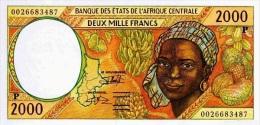 East African States - Afrique Centrale Tchad 2000 Billet 2000 Francs Pick 603 G Neuf 1er Choix UNC - Tsjaad