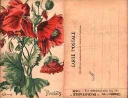 Fleurs Pavot Coquelicot - Illustrateur G Bonnet, Publicité Chaussures Incroyable - Künstlerkarten