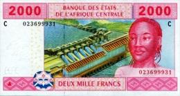 East African States - Afrique Centrale Tchad 2002 Billet 2000 Francs Pick 608 Neuf 1er Choix UNC - Tchad
