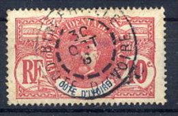 IVORY COAST 1906-07 10 C. Faidherbe Used.  Yv. 25 - Ivory Coast (1892-1944)