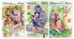 2016 Monkey Year Zodiac Primate II Animal Stamp Malaysia MNH - Malaysia (1964-...)