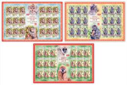 2016 SHEETLET Monkey Year Zodiac Primate II Animal Stamp Malaysia MNH - Malaysia (1964-...)