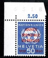 9180  Swiss 1960  Michel #32**  ( Cat. .60€ ) - Officials