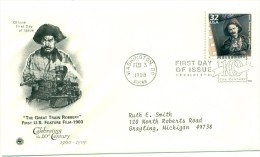 1998 USA The Great Train Robbery 32c  First Day Cover - First Day Covers (FDCs)