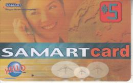 CAMBODIA - Girl On Phone, Samart Prepaid Card $5, Exp.date 22/08/03, Used - Cambodia