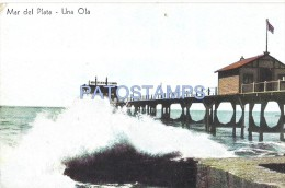 27937 ARGENTINA MAR DEL PLATA BEACH PLAYA UNA OLA ED FALCO Nº 24 POSTAL POSTCARD - Postcards