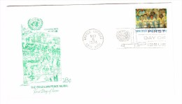 1974 United Nations Brazilian Peace Mural 18c First Day Cover - New York - Sede Centrale Delle NU