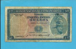 TIMOR - 50 ESCUDOS - 24.10.1967 - P 27 - Sign. 5 - REGULO D. ALEIXO - PORTUGAL - Timor