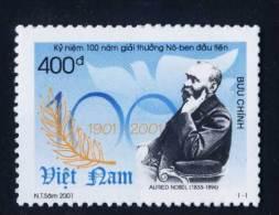 Vietnam Viet Nam MNH Perf Withdrawn Stamp 2001 : Centenary Of The Nobel Prize (Ms852) - Vietnam