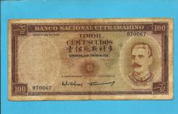 TIMOR - 100 ESCUDOS - 02.01.1959 - P 24 - Sign. 2 - JOSÉ CELESTINO DA SILVA - PORTUGAL - Timor