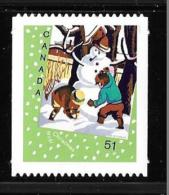 CANADA. 2006  # 2184i,  CHRISTMAS CARDS: Snowman DIE  CUT  FROM BOOKLET  Mnh - Carnets