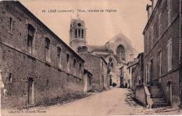 CPA N° 43 - LEGE 44 Loire Atlantique - Rue, Montée De L´ Eglise Animée - Legé