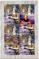NAGORNO MOUNTAINOUS KARABAKH ARMENIA 2011 SHUTTLE SPACE USA CPMBI SHEETLET MNH - Armenia