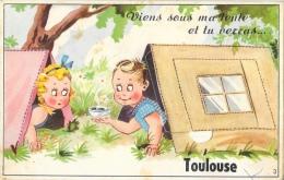 Carte à Système: Viens Sous Ma Tente Et Tu Verras... Toulouse - Multivues En Accordéon - Carte CAP - A Systèmes