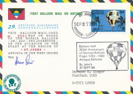 ST. JOHNS  - 1984 , 1. Ballonflug - Antigua Und Barbuda (1981-...)