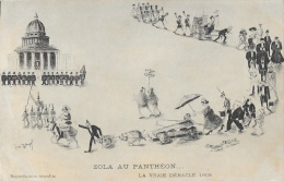 Illustration Humoristique De Louis Dangel: Zola Au Panthéon... La Vraie Débâcle 1908 - Carte Non Circulée - Satiriques