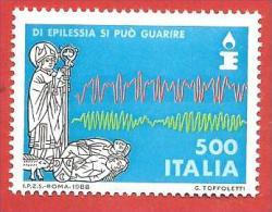ITALIA REPUBBLICA MNH - 1988 - Lotta Contro L'epilessia - £ 500 - S. 1827 - 6. 1946-.. Repubblica