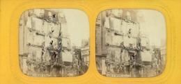STEREO France, Paris La Rue Royale STEREO France, Paris La Rue Royale  Tirage Albuminé   8,5x17   Circa 1870 - Stereoscopio