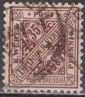 WURTTEMBERG Republik 1919 Dienstmarken 35 Pf. Braun Michel 256 - Wuerttemberg