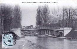 51 - Marne - Chalons Sur Marne -  Pont Du Canal Louis XII ( Peniche, Attelage ) - Châlons-sur-Marne
