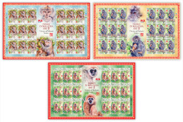 2016 SHEETLET Monkey Year Zodiac Primate II Animal Stamp Malaysia MNH - Maleisië (1964-...)