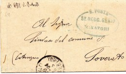 POSTA MILITARE MANOSCRITTI 1904 TORINO -SOVERATO 5°REGG.GENIO MINATORI - 1900-44 Victor Emmanuel III