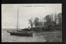 29, LANDEVENNEC, L'EGLISE ET LA GREVE - Landévennec