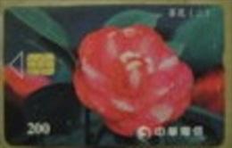 Taiwan Telephone IC Card Camellia (II) Flower Flora - Taiwan (Formosa)