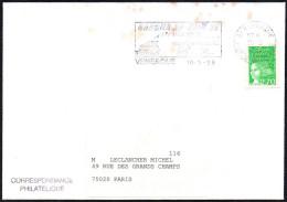 SAILING - FRANCE VENERQUE 1999 - MAILED ENVELOPE - FLAMME: GARONA 20 JUIN ´99 14^ DESCENTE EN RADEAU VENERQUE / TOULOUSE - Sailing