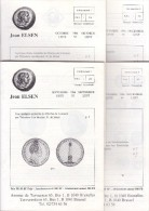 Catalogues Jean ELSEN - Ventes Publiques - Lot De 4 Catalogues - Année 1986 - Français