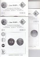Catalogues Jean ELSEN - Ventes Publiques - Lot De 3 Catalogues - Année 1992 - Français