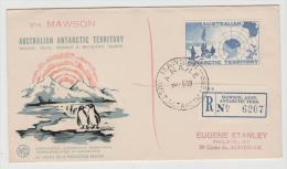 AA018 /  AUSTRALIEN - ANTARKTIKA - Einschreiben Mawson 1959 - Australisch Antarctisch Territorium (AAT)