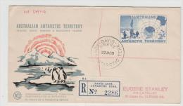 AA019 /AUSTRALIEN - ANTARKTIKA -  Davis Station 1959, Einschreiben - Australisches Antarktis-Territorium (AAT)