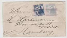 Ho037 /  HONDURAS - Lokomotive-Ausgabe Von 1898 (Mi.Nr. 87y +  89y Nach Hamburg Veddel 1900 - Honduras